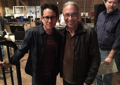JJ Abrams and Bill on last day of scoring for Star Wars VII