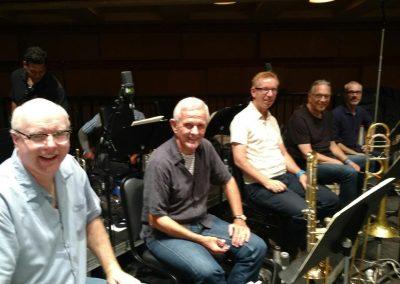 John Williams/Steven Spielberg CD session - low brass Alex Iles, Bill Booth, Phil Keene, Bill Reichenbach, Doug Tornquist