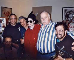 Michael Jackson horn session - Bill, Jerry Hey, Michael, Bruce Swedeen (engineer/producer), Gary Grant
