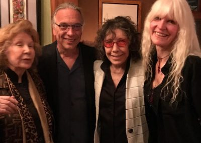 Jane Wagner, Bill, Lilly Tomlin, Fran at Stephanie Miller's Resistance Dinner 2017