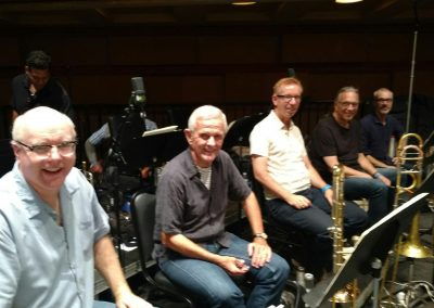 John Williams/Steven Spielberg CD session - low brass Alex Iles, Bill Booth, Phil Keene, Bill Reichenbach, Doug Tornquist