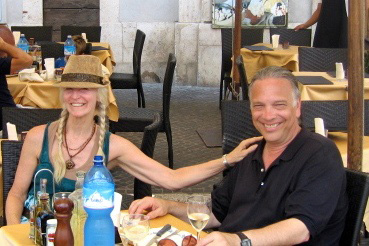 Bill and wife Fran in Rome 2009